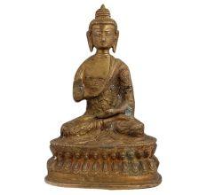 Carved Astmangal Buddhism Brass Buddha Idol