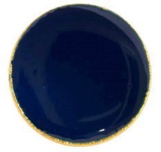 Navy Blue Round Metal and Resin Cabinet Knobs