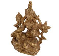 Beautiful Hand Crafted Brass Tara Devi Idol Statue