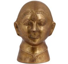 Traditional Lady Face Brass Statue Bust For Decoration