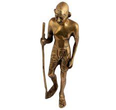 Historical Political Leader Brass Mahatma Gandhi Statue