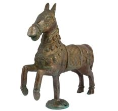 Hand Made Brass Galloping Horse Sculpture