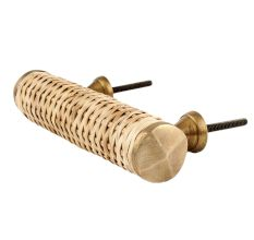 Natural Small Round Rattan Cabinet Handles