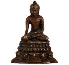 Brass Sitting Buddha Meditation Base On Lotus Base