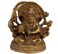 Brass Panchmukhi Lord Hanuman Statue For Worship