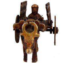 Brass Bullock Cart Decoration Showpiece