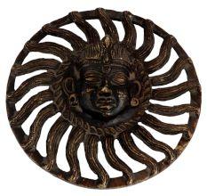 Brass Tribal Sun God Wall Hanging Gift Showpiece