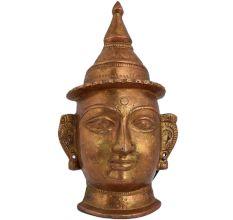 Brass Hindu Religious Ritual Shiva Mask Head Statue