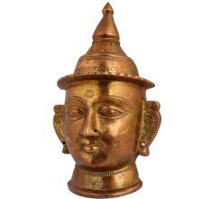 Brass Shiva Big Eyes Decorative Head Mask Mukhalinga Statue