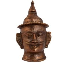 Handmade Lord Shiva Brass Head Statue Mukhalinga