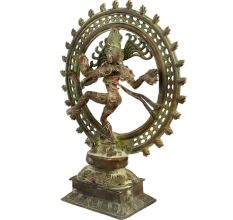 Brass Dancing Shiva Statue Home Decoration
