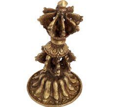 Brass Tibet Dorje Phurba On Stand Showpiece