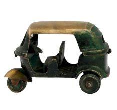 Handmade Brass Auto Vehicle Statue Toy Showpiece