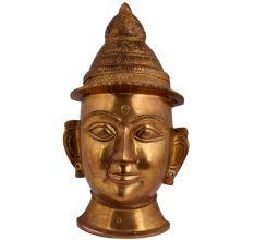 Brass Shiva Head Mask Brass Mukhalinga-Statue