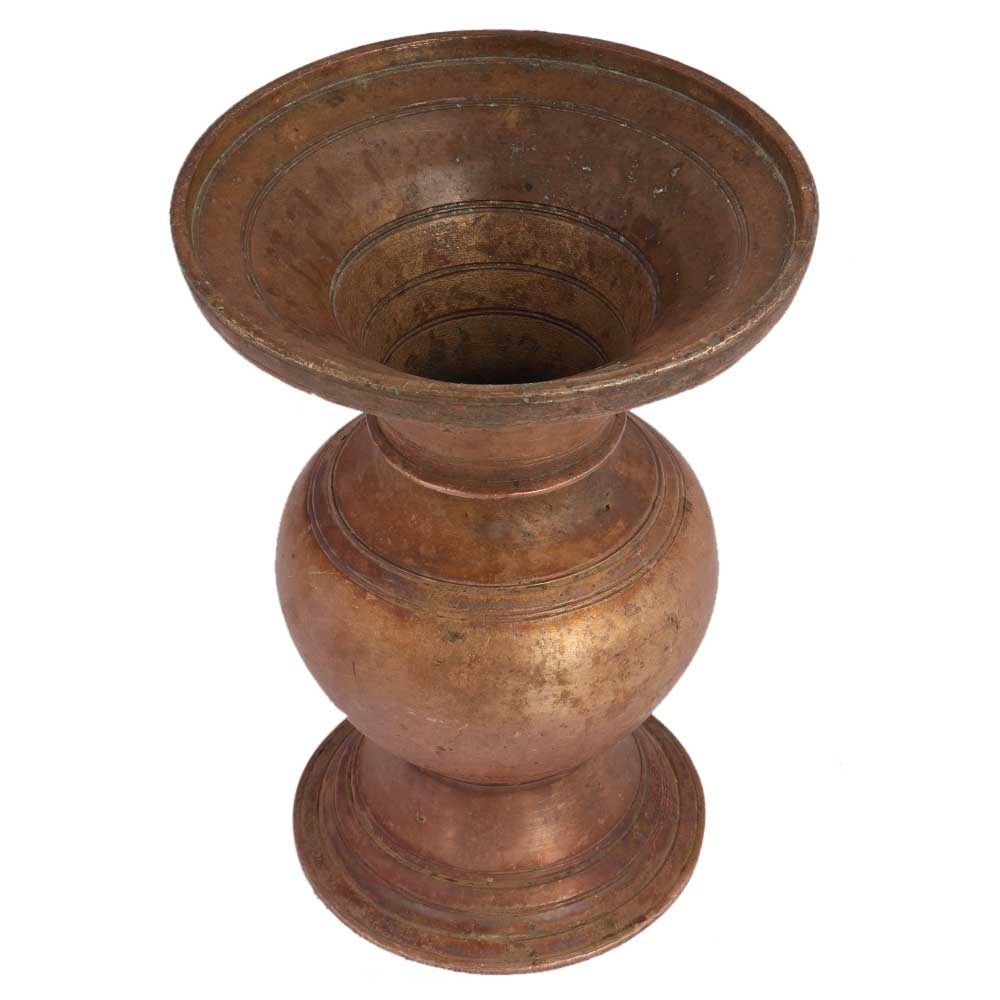 Brass Wide Mouth Pot Vase Planter Pot