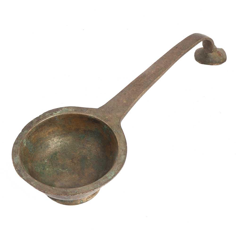 Brass Pooja Diya-With Traditional Long Handle