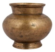 Holy Ritual Brass Round Water Pot For Decoration