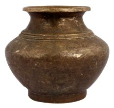 Brass Broad Centre Holy Water Pot