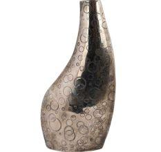 Brass Polka Dot Engraved Asymmetrical Vase