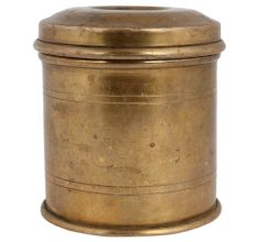 Brass Storage Container Or Canister With lid