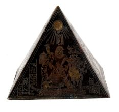 Handmade Brass Hieroglyphics Egypt Pyramid Paperweights