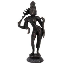 Indian Brass Statue Of A Lady Dancer
