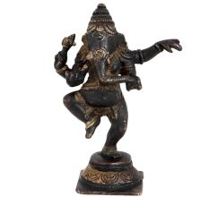 Brass Black Dancing Ganesha Statue