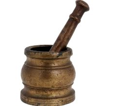 Brass Hamam Dasta Mortar And Pestle Set