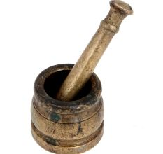 Brass Mortar And Pestle Set For Indian Kitchen