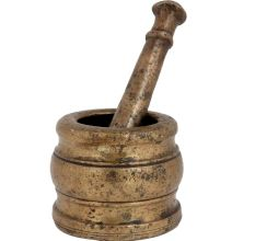 Brass Mortar And Pestle Indian Grinding Machine