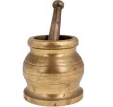 Brass Mortar And pestle Traditional Mixer And Grinder