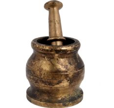 Traditional Brass Pital Mortar Pestle