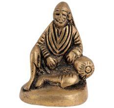 Brass Statue Of Shirdi Sai Baba Sitting Position