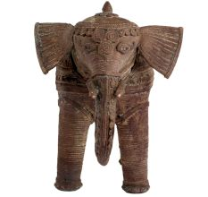 Tribal Brass Elephant Standing For Gifting And Decoration