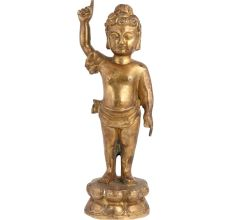 Brass Standing Cherub Statue For Gifting