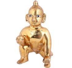 Brass Ladoo Gopal Statue Or Krishna As a Child Statue