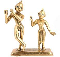 Pure Brass Radha Krishan Statue Murti