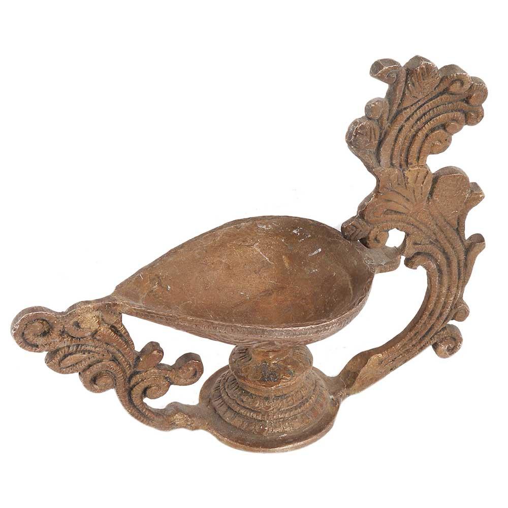 Brass Peacock DiyaPooja Decoration