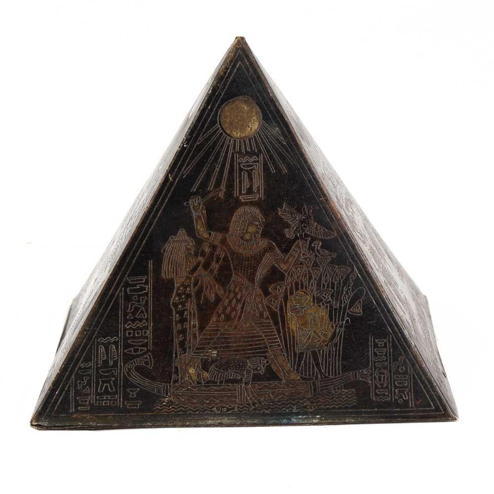 Handmade Brass Hieroglyphics Egypt Pyramid Paperweights