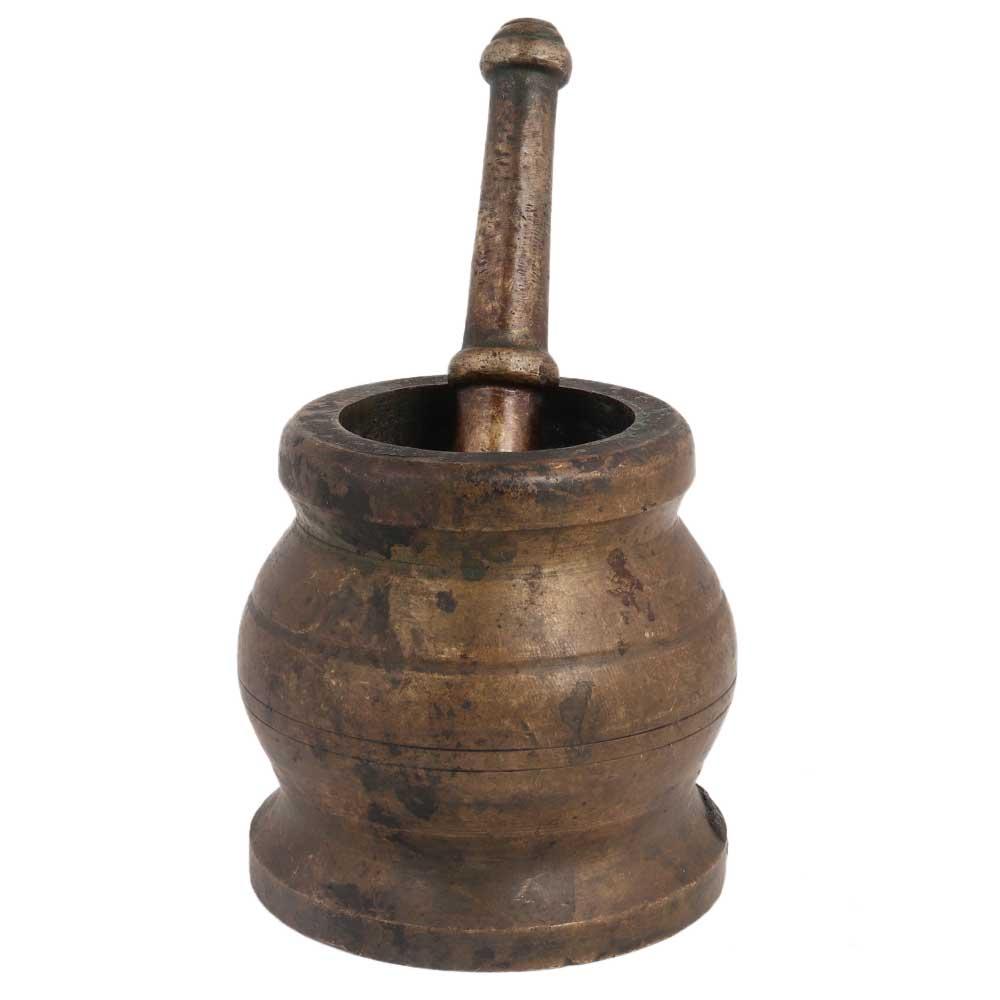 Brass Mortar And Pestle Or Spice Herb Grinder