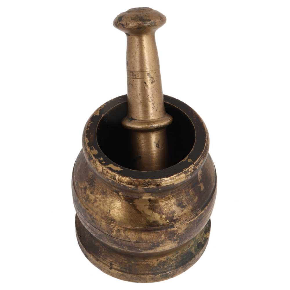 Traditional Brass Pital Mortar Pestle