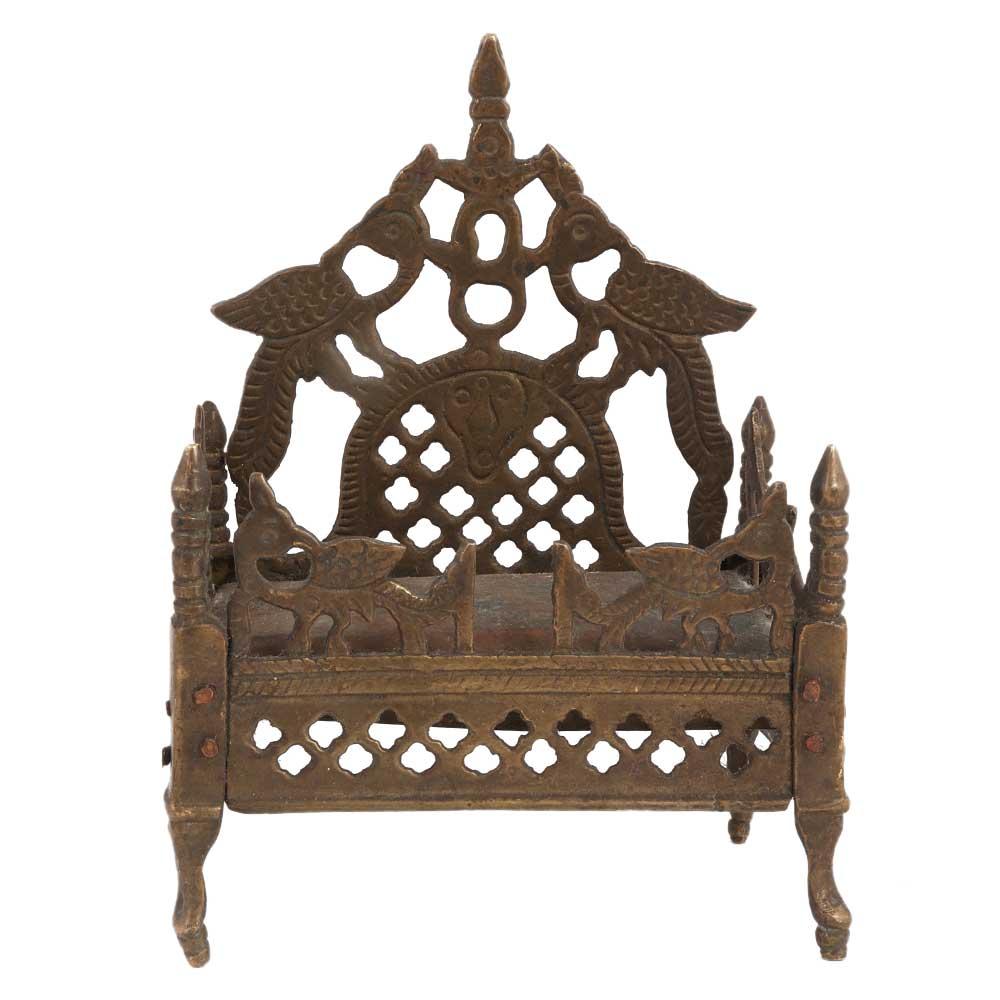 Brass Singhasan For God Pooja Accessory