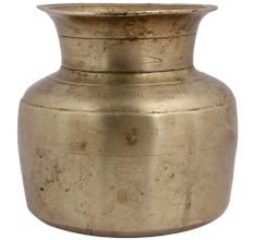 Brass Holy Water Pot With Broad Base And Mouth