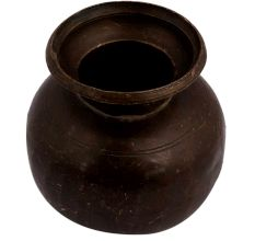 Brass Water Storage Pot Broad Base For Decoration