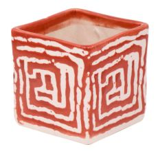Red Maize Square Ceramic Pot Planter