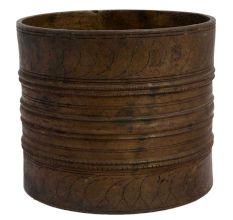 Rustic Handmade Brass Water Measuring Pot