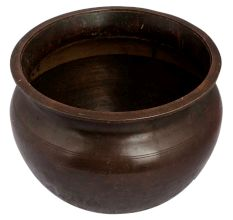Brass Worship Holy Water Pot In Round Shape