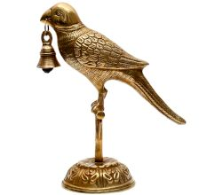 Brass Parrot Bell For Home Decoration