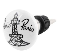 Paris Eiffel Tower Flat Wine Bottle Stopper