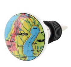 Sweden Map Ceramic Wine Bottle Stopper
